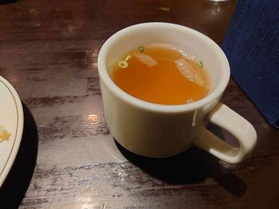 マッシュポテトのコンソメスープ